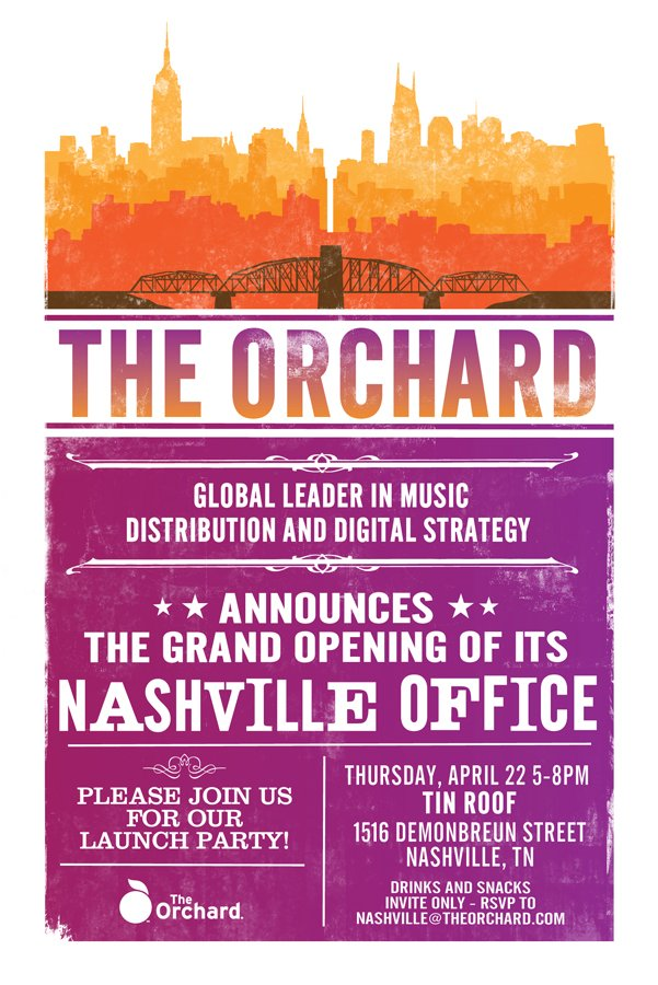 THE ORCHARD Nashville Office Opens Invite